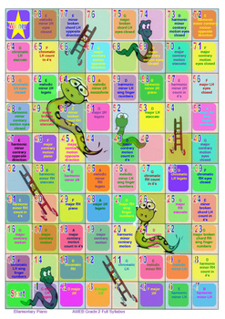 Snakes & Ladders Piano Scales Boardgame - AMEB Grade 2 Full Syllabus