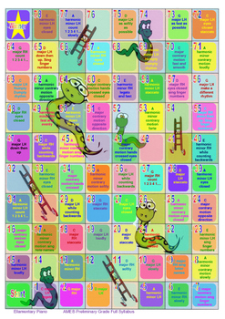 Snakes & Ladders Piano Scales Boardgame - AMEB Preliminary Grade Full Syllabus