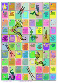 Snakes & Ladders Scales Game - AMEB Grade 3 Full Syllabus