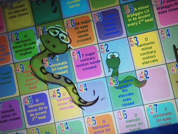 Snakes & Ladders Scales Game - AMEB Grade 3 PFL Syllabus
