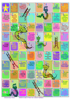 Snakes & Ladders Scales Game - AMEB Grade 4 PFL