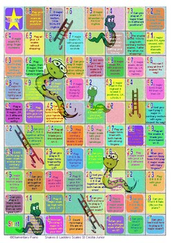 Snakes & Ladders Scales Game - St Cecilia 2017 Junior Piano Syllabus