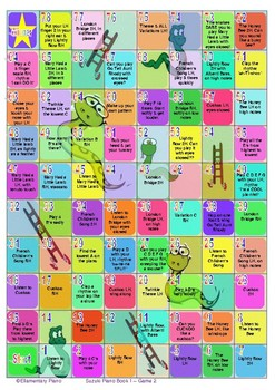 Snakes & Ladders Scales Game - Suzuki Piano Book 1 Game B