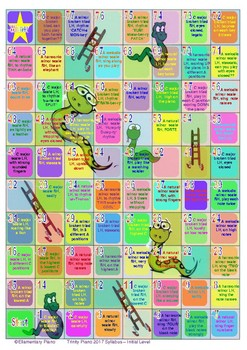 Snakes & Ladders Scales Game - Trinity College 2017 Piano - Initial level
