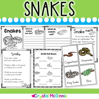 Snakes Nonfiction Literacy Unit