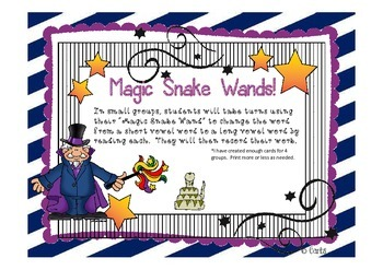 Snakes - Long a: a-e and Other Literacy Activities