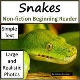 Snakes: Non-fiction animal e-book for beginning readers