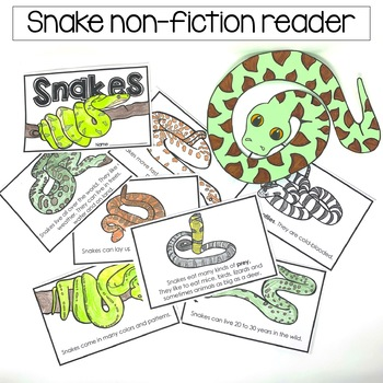 Snake Unit Informational Text with Digital Resource Boom Card Deck