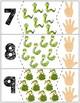 """Snakes Quantity Puzzles #1-10   """"Show me fingers"""" Version"""