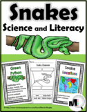 Snakes Science, Literacy, and Geography - Snakes Unit - Snakes Non Fiction