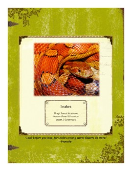Snakes Themed Nature Education Unit-Stage 2 (Magic Forest Academy)