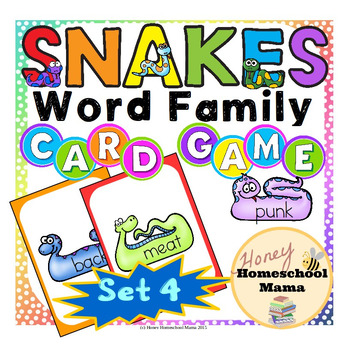 Snakes Word Family Card Game With 10 Word Families - Set 4