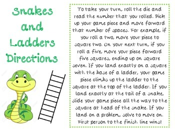 Snakes and Ladders: Adding Fractions