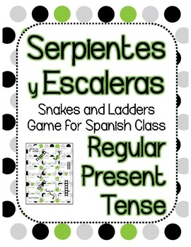 Snakes and Ladders Board Game, Present Tense Spanish - FREEBEE!!!