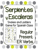Snakes and Ladders Board Game, Present Tense Spanish -ER Verbs