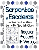 Snakes and Ladders Board Game, Present Tense Spanish -IR Verbs