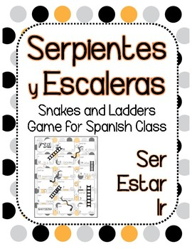 Snakes and Ladders Board Game, Spanish Ser Ir Estar Present Tense