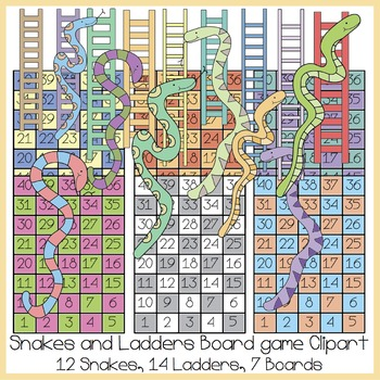 Snakes and Ladders Clipart