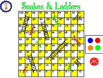 Snakes and Ladders Game (Numbers to 120)