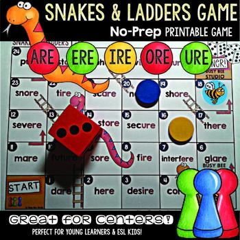 Snakes And Ladders Literacy Game Teaching Resources | Teachers Pay ...
