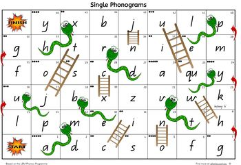 Snakes and Ladders - LEM Phonics