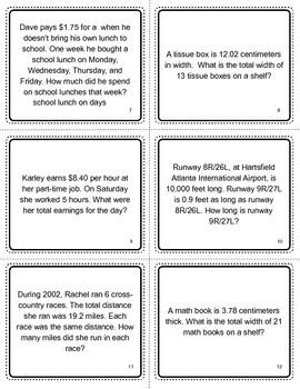 Snakes and Ladders:  Multiply and Divide Decimals
