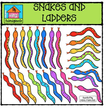 Snakes and Ladders {P4 Clips Trioriginals Digital Clip Art}