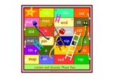 Snakes and Ladders phonics games. Phase 2 of the Letters a