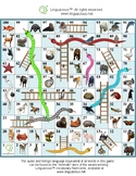 Snakes and Ladders - Practice animal names in various fore