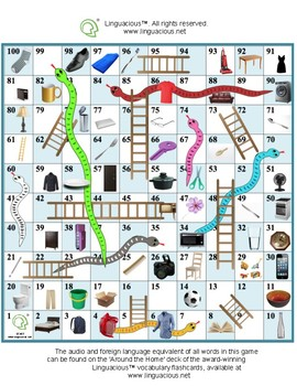 Snakes and Ladders - Practice common object names in various foreign languages!