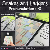 Snakes and Ladders - Pronunciation -S - Simple Present 3rd