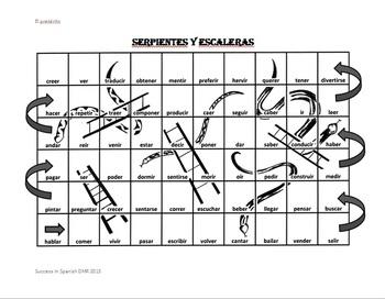 Snakes and Ladders - Serpientes y escaleras - Preterite - Preterito