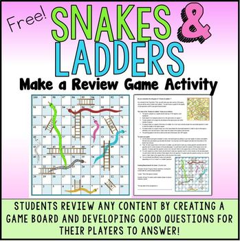 Snakes and Ladders Review Game: Make A Game Activity to Review Any Content