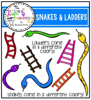 Snakes and Ladders (The Price of Teaching Clipart Set)