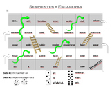 Snakes and Ladders Verb Conjugation Template