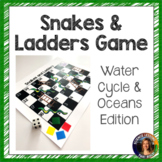 Water cycle and Oceans Snakes and Ladders Review Game