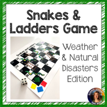 Weather and Natural Disasters Snakes and Ladders Review Game
