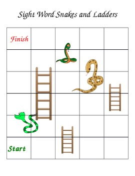 Snakes and ladders custom word game template by mooving for Snakes and ladders printable template