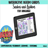 Snakes and Ladders Interactive Boom Card Game for Language