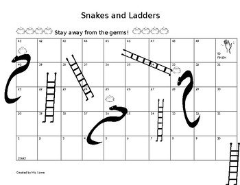 Snakes and Ladders game for Personal Hygiene