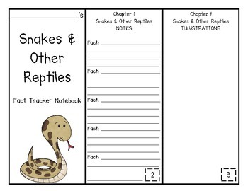 Snakes and Other Reptiles Fact Tracker Research Guide