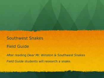 Snakes of the Southwest Field Guide