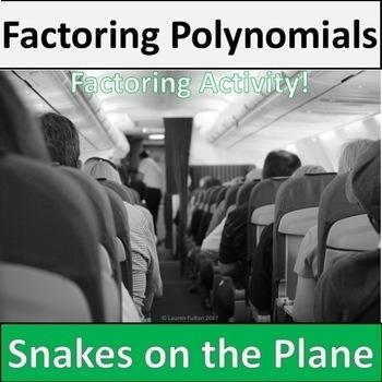 Snakes on a Plane Factoring Quadratics Activity & Game