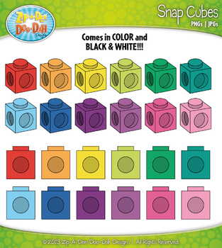 Snap Building Cubes Clipart {Zip-A-Dee-Doo-Dah Designs}