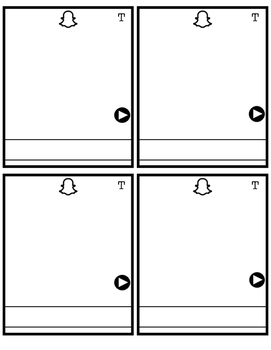 Snap Chat Exit Cards