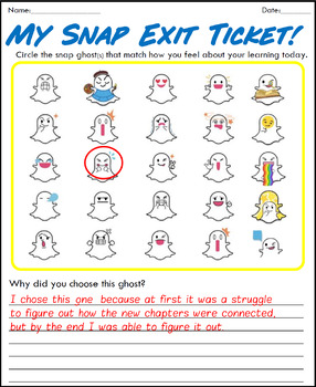 Snap Chat Ghost Exit Tickets!