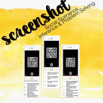 Screen Shot Social Scenario Inference & Problem Solving