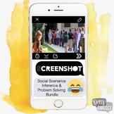 ScreenShot Social Scenario Inference & Problem Solving