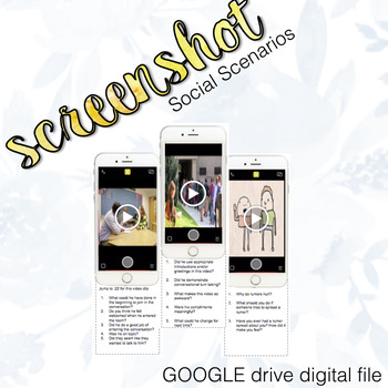 Snap Chat Social Scenario Inference & Problem Solving Google Drive Digital File