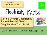Snap Circuits Electricity Unit - Current Voltage Resistance Series Parallel